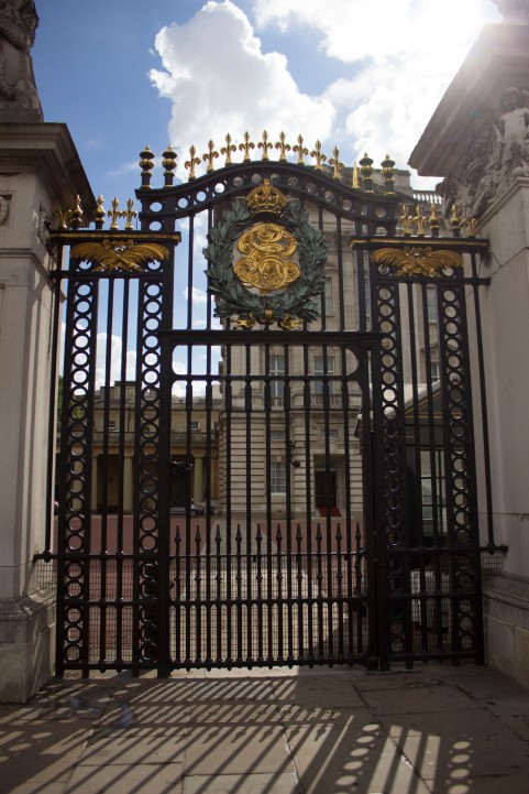 Even the gates of the Palace are ornate